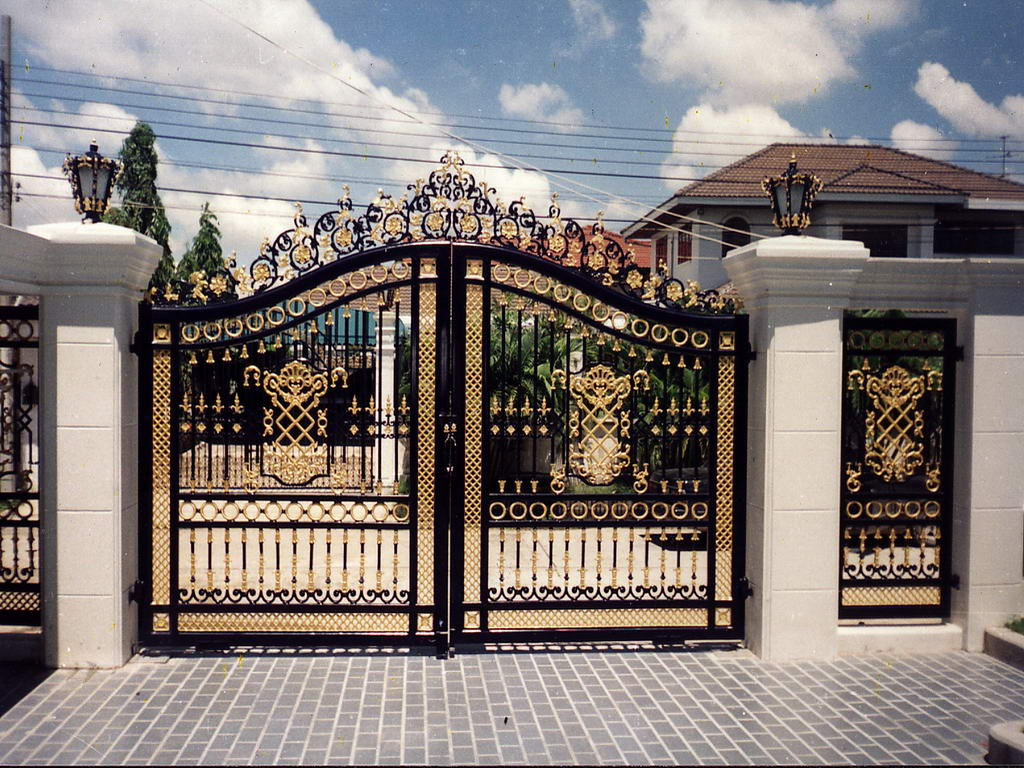 Gates not only add security to your property but they also add style ...