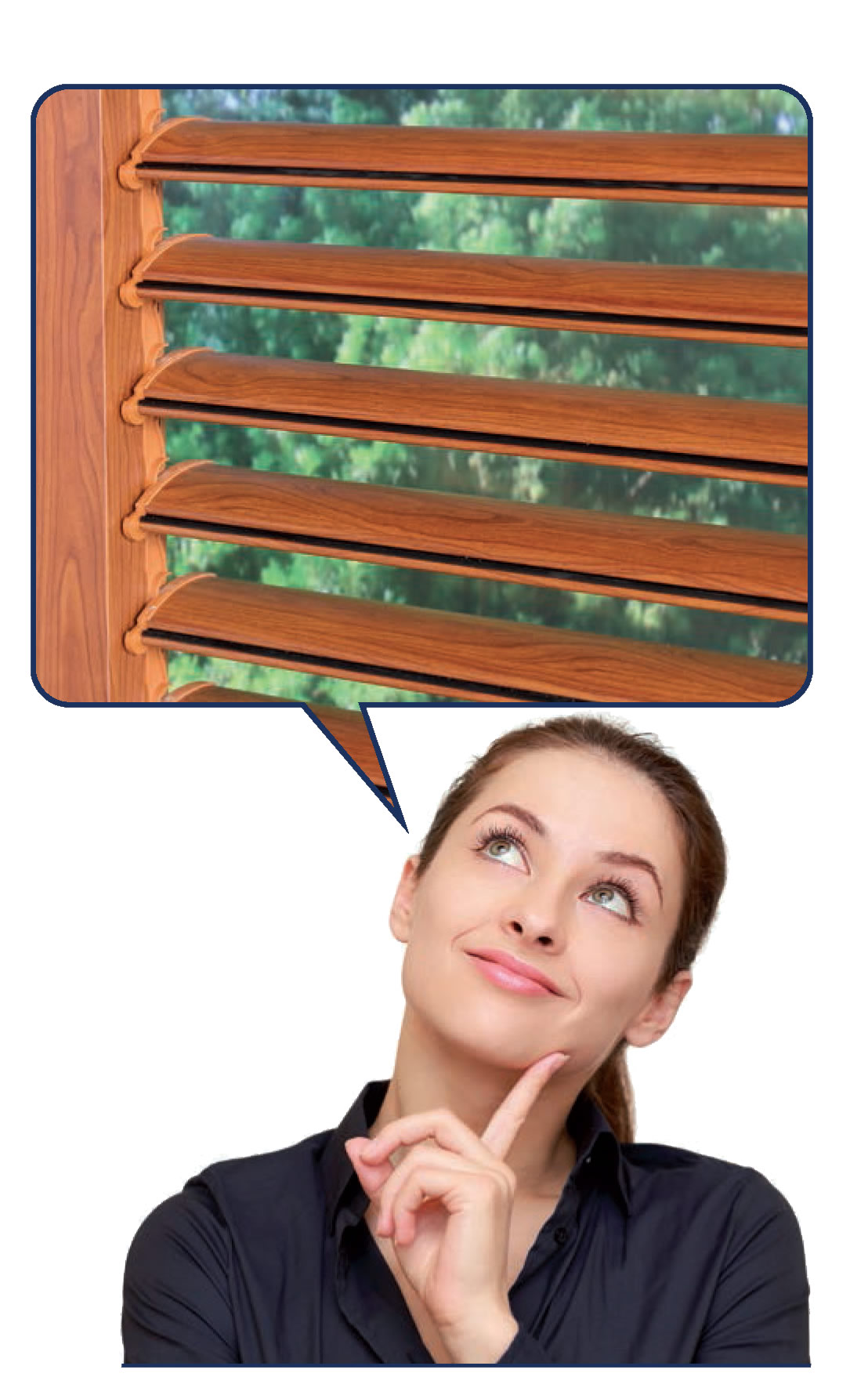 Roller Shutters With Adjustable Slats.